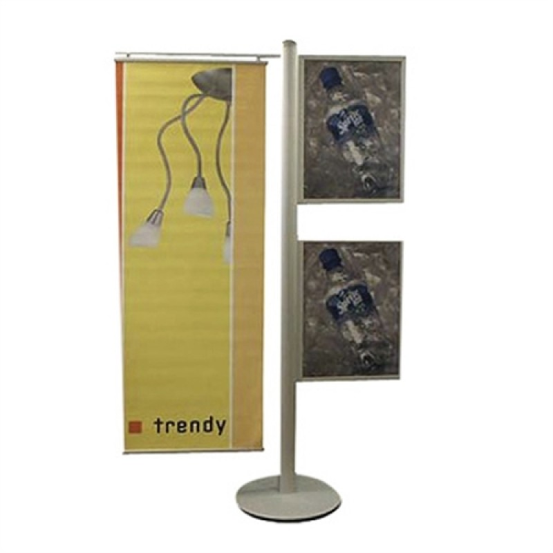 MULTISTAND 16 2 x SLIDE-IN A2 and BANNER 50cm.-30