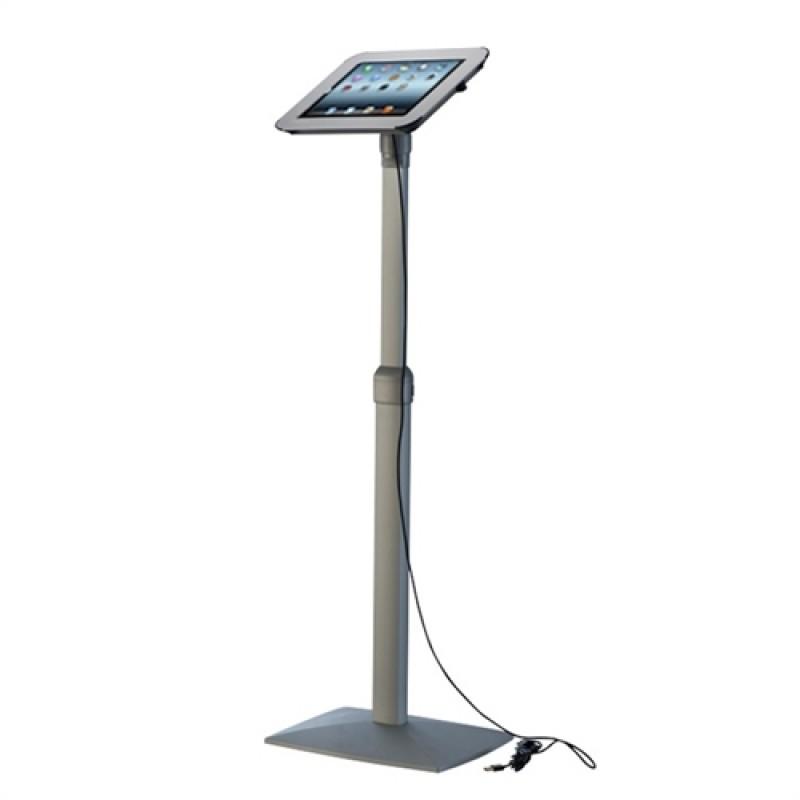 iPad stander til gulv, drejbar, hvid-30