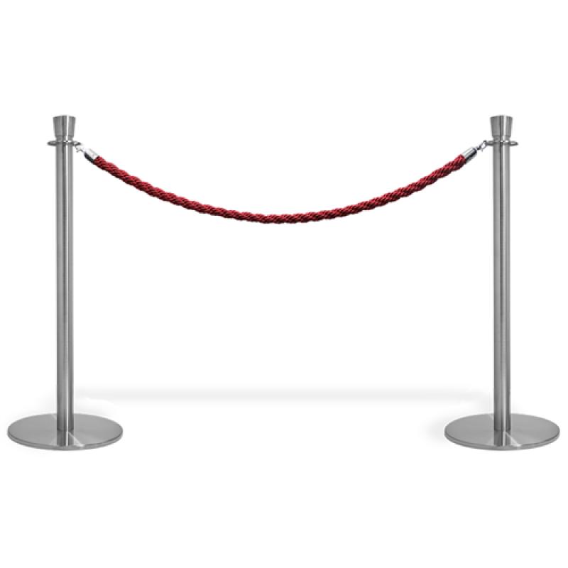 Kø kontrol VIP afspærring med rødt reb.-30