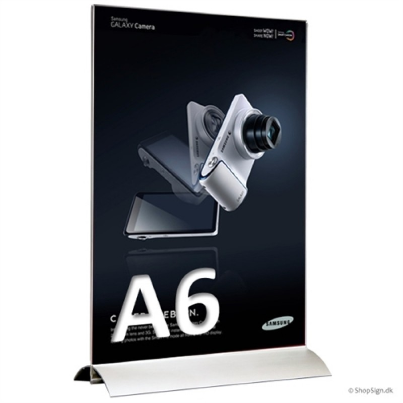 Alu-Stand menukortholder A6 i højformat-30