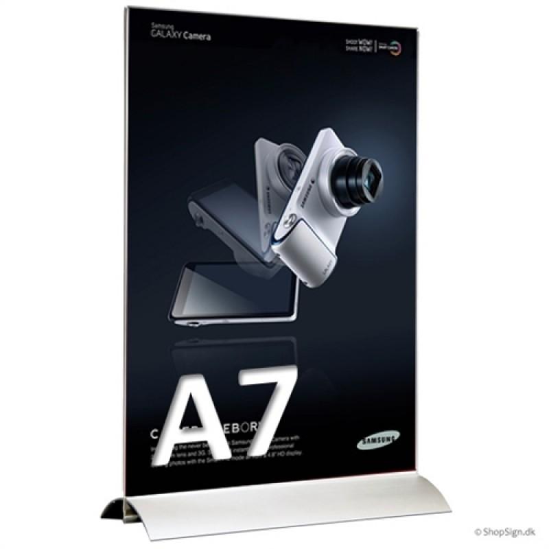 Alu-Stand menukortholder A7 i højformat-30