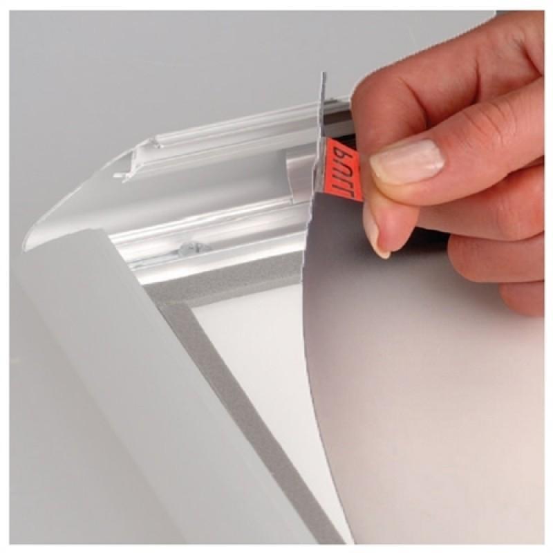 A-PET Antirefleks frontplade uden magnet 85 x 120 cm. A0-30