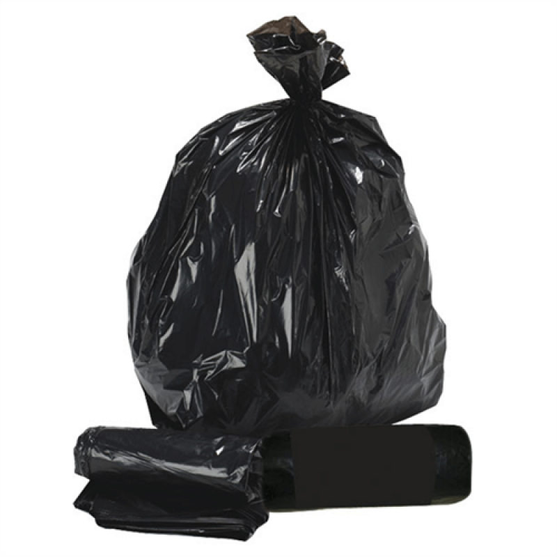 Affaldspose, sorte 90 liter 10 stk.-30