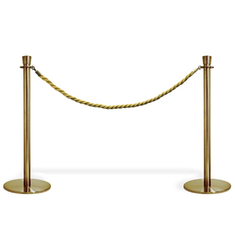 Kø kontrol VIP afspærring i guld farve / reb-30