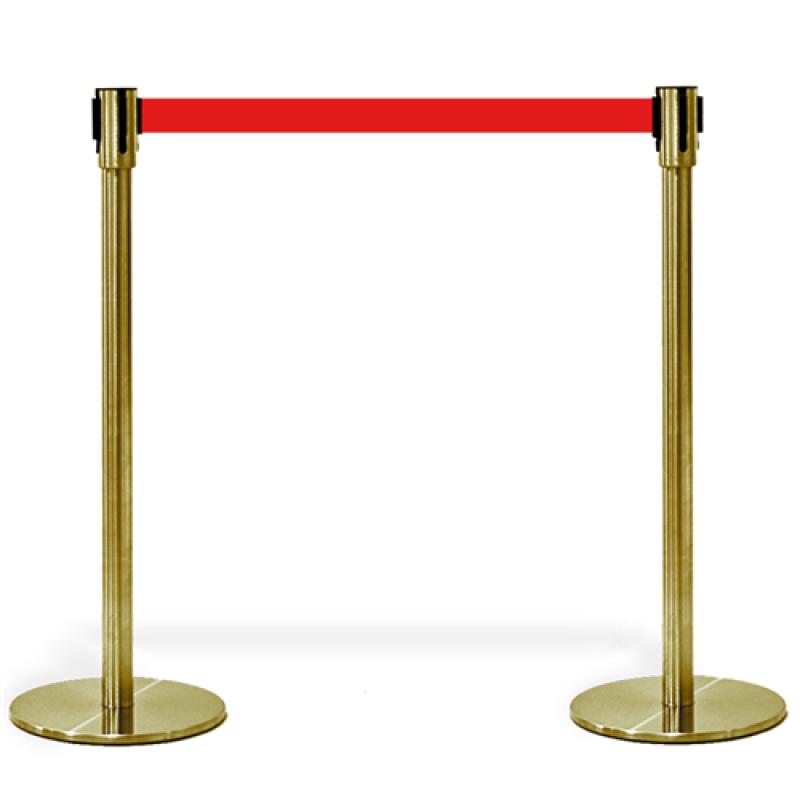 """Kø kontrol VIP afspærring i """"guld"""" med rødt bånd-30"""