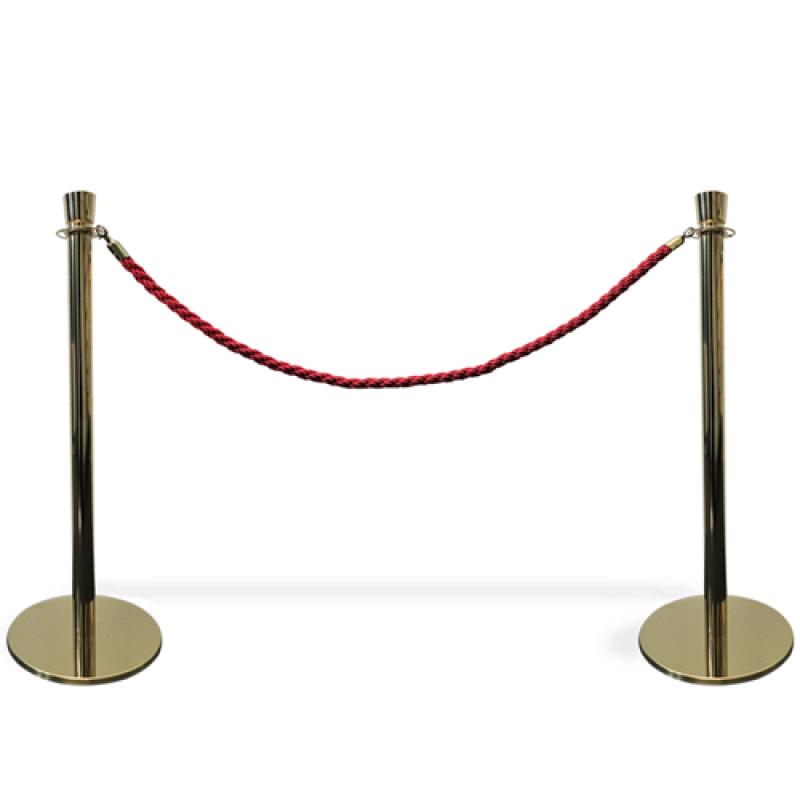 Kø kontrol VIP afspærring i guld farve / rødt reb.-30