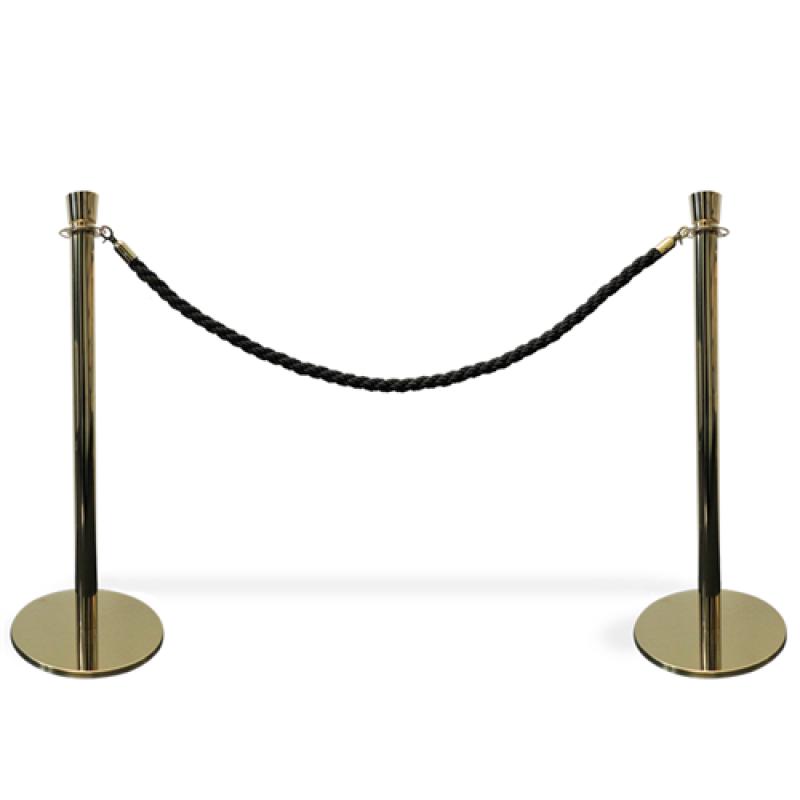 Kø kontrol VIP afspærring i guld farve / sort reb.-30