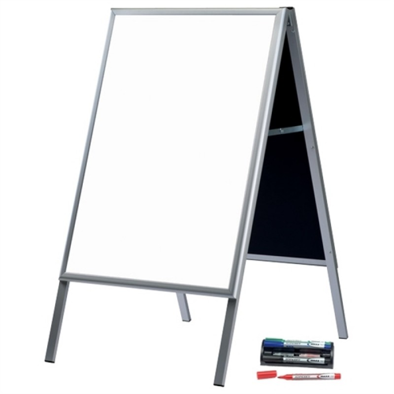 Alu-Line Whiteboard gadeskilt-30