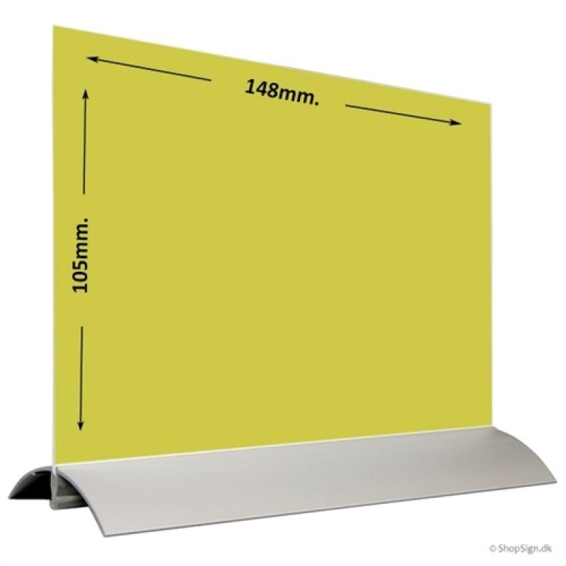 Alu-Stand menukortholder A6 Bredformat-30