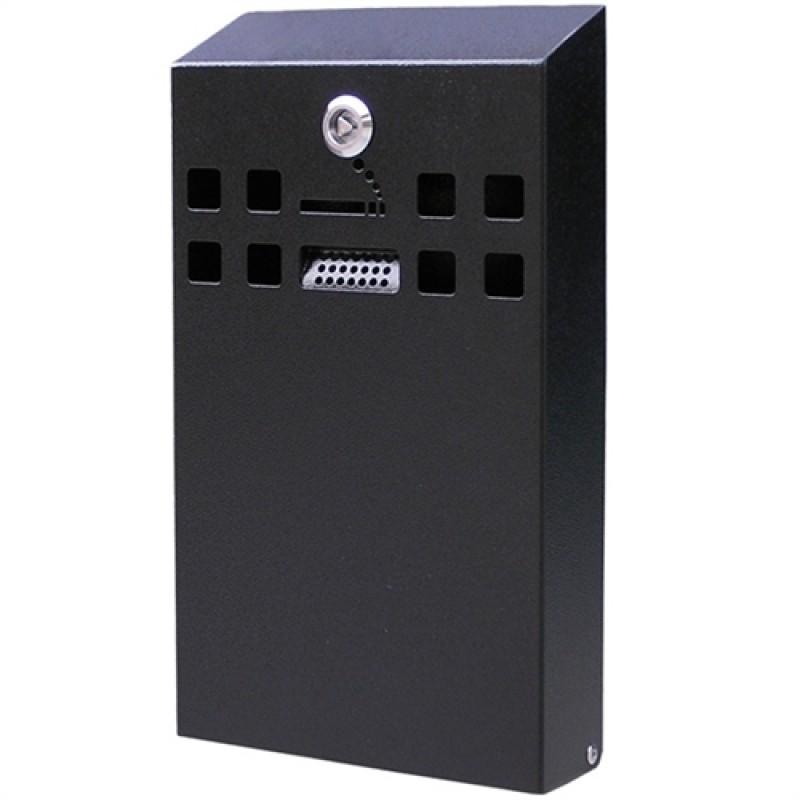 Square Udendørs askebæger i sortlakeret stål, XL-30