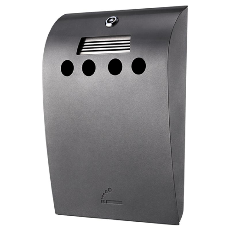 Convex Udendørs askebæger i grålakeret stål-30