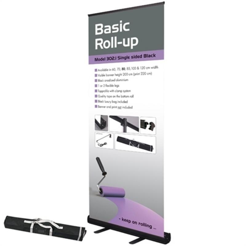 Basic sort rollup, 100x200cm. inkl. banner, print og taske-30