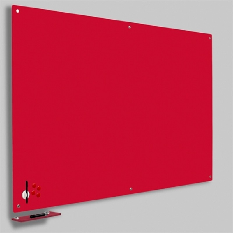 Magnetisk Glastavle Rød 120x150 cm.-30