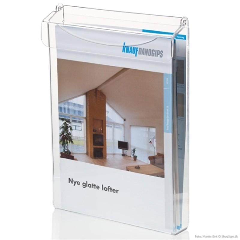 Udendørs brochureholder med låg A6-30