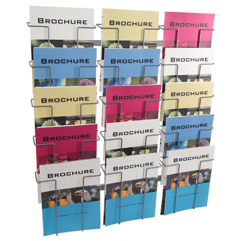 Brochureholder til væg Index 15 x A4-30