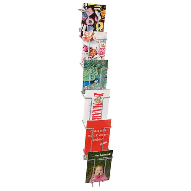 Brochureholder til væg Index 6 x A6-30