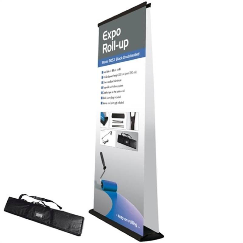 Expo black rollup, 83x200cm. inkl. banner, print og taske-30