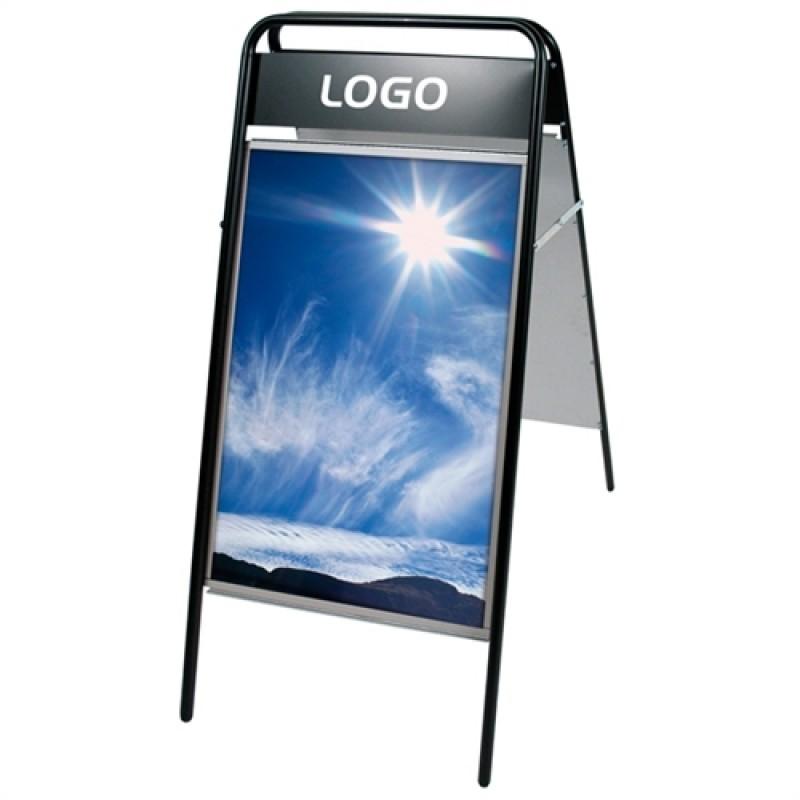 Expo Sign Standard gadeskilt 70x100cm med logoplade Sort-30