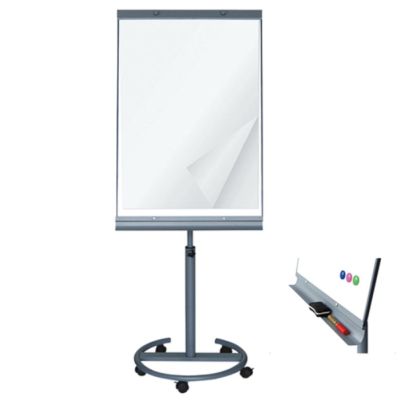 Flipover tavle med hjul Whiteboard/Papir-30