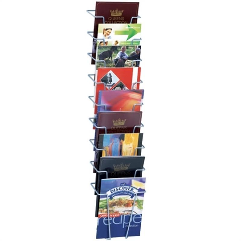 Brochureholder til væg Index 9 x A5-30