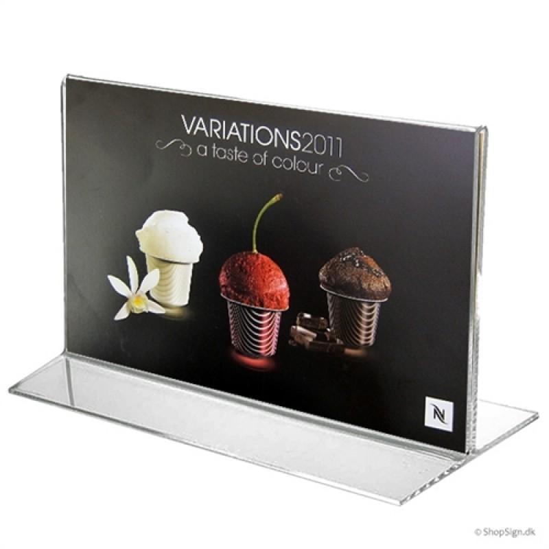 T-Stand menukortholder i bredformat-30