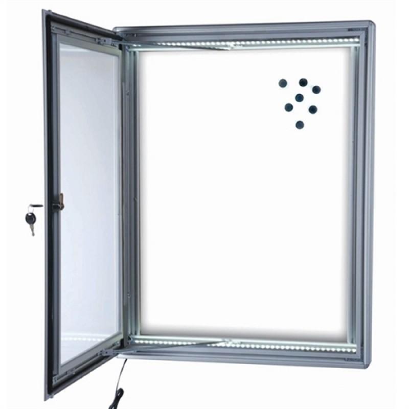 Opslagsskab med lås Magnetic LED lys 6*A4-30