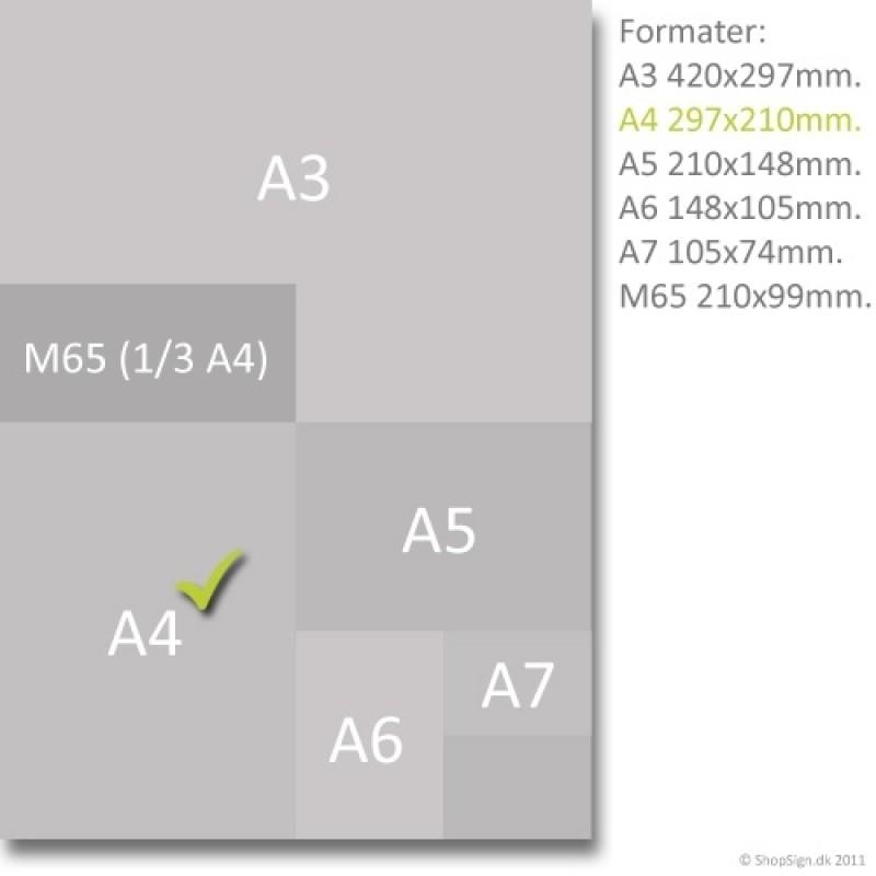 Index brochureholder Info 1xA4-30