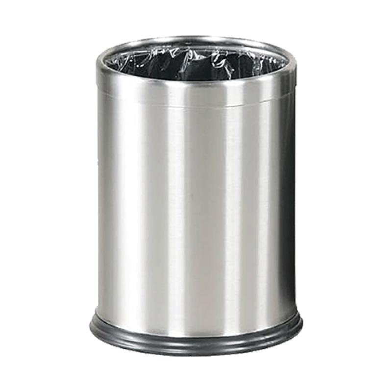 Papirkurv Lux i børstet stål-30
