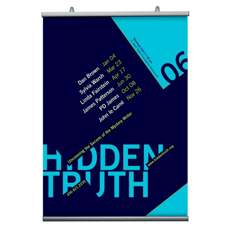 21 cm. plakatophæng/plakatliste Poster-Hanger-33