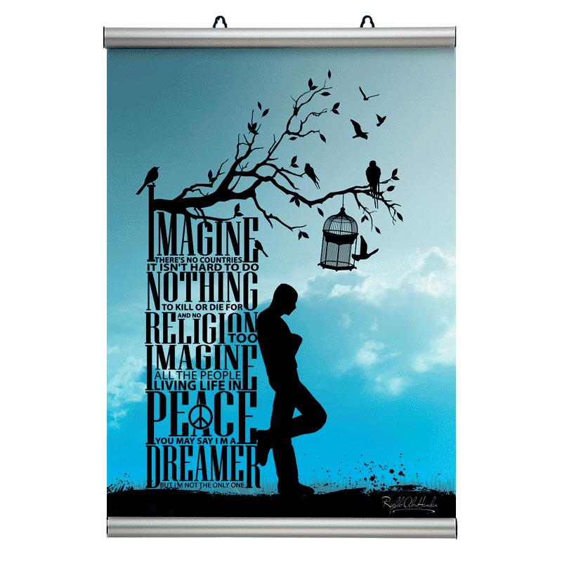 100 cm. plakatophæng/plakatliste Poster-Line-30