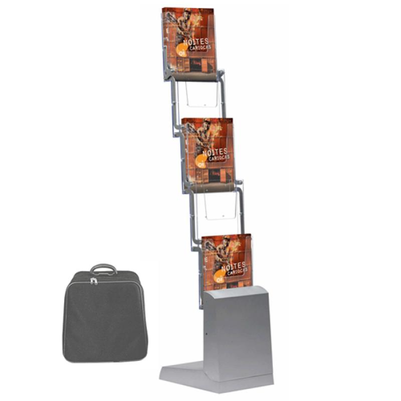 Quick brochurestander 5 x A4 Sølv-30