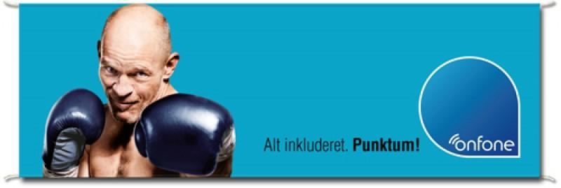 Reklame banner, 50x200cm. m/flagsnor i top og bund-30