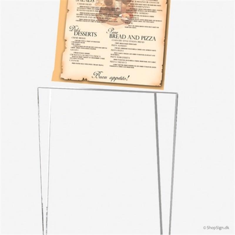 Rocket menukortholder Sølvgrå-30
