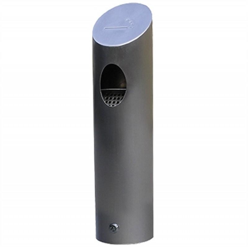 Tube Udendørs askebæger i børstet stål-30