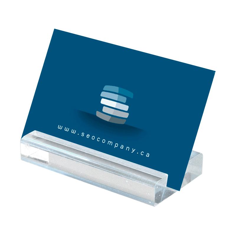 Akryl blok visitkortholder - Large