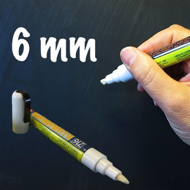 Whiteboard tusch / marker / pen Hvid 6mm.-30