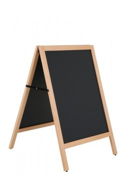 Cafe A-skilt / gadeskilt med sort skrivetavle - Lys ramme