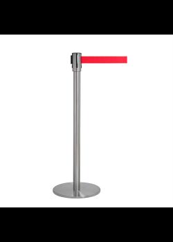 Afspærringsstolpe - Kø kontrol med rødt bånd