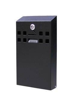 Square Udendørs askebæger i sortlakeret stål, XL-20