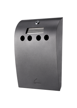 Convex Udendørs askebæger i grålakeret stål-20