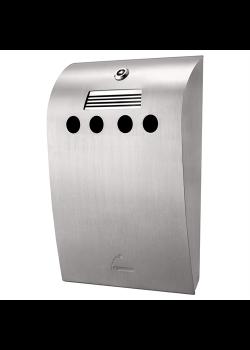 Convex Udendørs askebæger i børstet stål-20