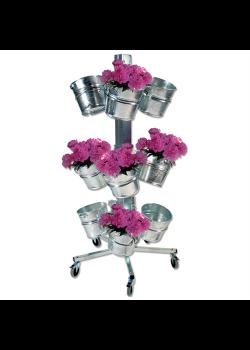 Blomsterstativ med 12 stk. zinkspande-20