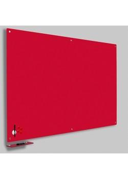 Magnetisk Glastavle Rød 60x90 cm.-20
