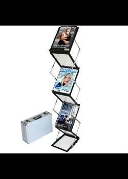 Flex brochureholder 6 x A5 Sort-20