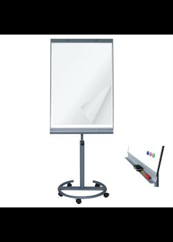 Flipover tavle med hjul Whiteboard/Papir-20