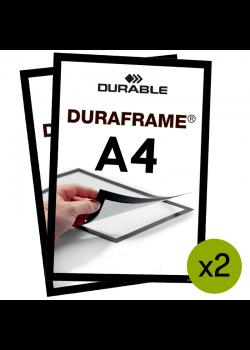 Magnetramme - Duraframe A4 Sort