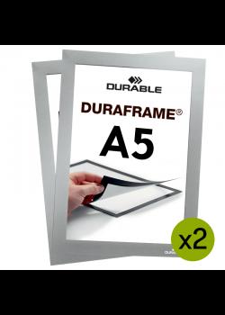 Sort magnetramme A5 - Duraframe