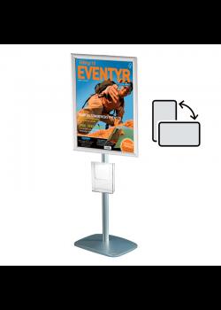 Mini infostander A2 roterbar - med brochureholder