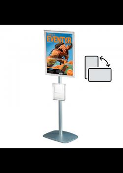 Mini infostander A3 roterbar - med brochureholder