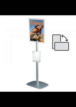 Mini infostander - A4 roterbar med brochureholder
